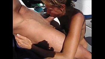 my sexy wife deepthroats my cock on the boat