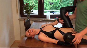 latex german milf analy fucked and face cum.