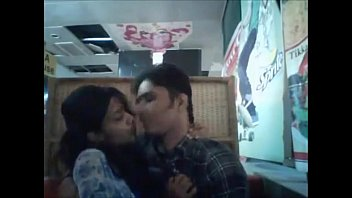 kissing sceen!!whats they doing in restaurant.