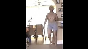 57 year old milf full striptease in puppy pajamas
