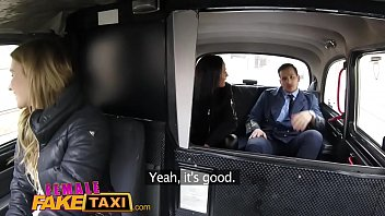 female fake taxi pilot delivers facial after landing.