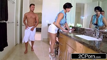 mature stepmom shay fox helps her stepson to.