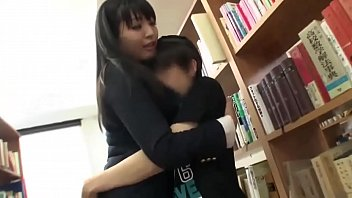 asian girl fuck guy in library