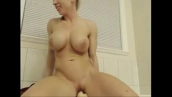 hot blonde rides dildo on cam for audience -tinycam.org