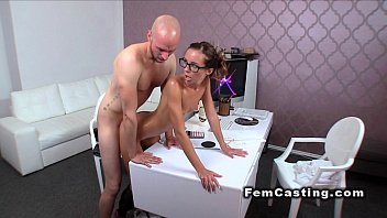 slim oiled female agent banged from.