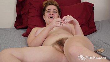 busty megan masturbating her hairy beaver