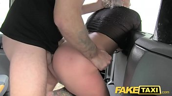 fake taxi blonde milf gets surprise anal sex.
