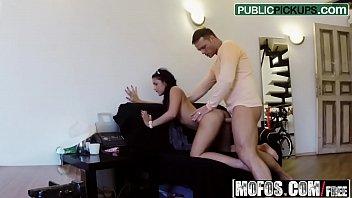 (nancy) - petite hottie rides dick - public.