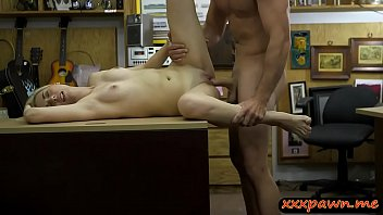 petite blondie screwed at the pawnshop