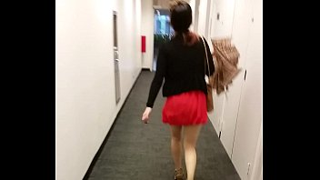hot asian in a mini skirt.
