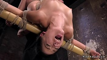 extreme hogtie and anal fuck with.