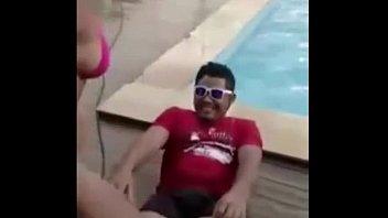 putaria na piscina com as safadas c/ funk.