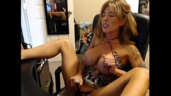 pretty big boob milf toys and cums on.