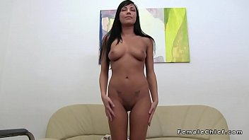 tanned beauty toys at lesbian casting