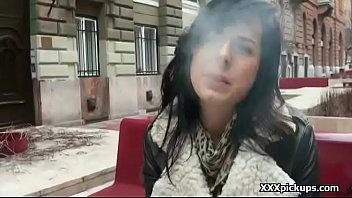 public pickup girl seduced bu horny tourist in.