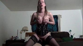 milf rides till he cums inside her -.