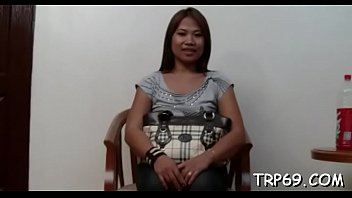 asian angel with a smooth hairy pussy enjoys.