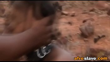 african girl is tied and fed to fuck.