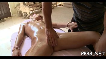 breasty darling gets a lusty oil massage from.