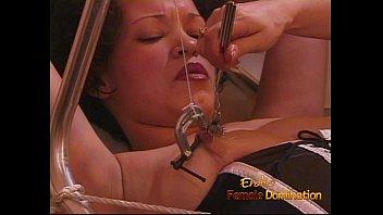 hot brunette slut gets fisted hard by her.