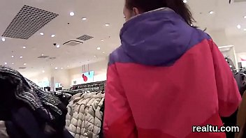 charming czech nympho gets seduced in the hypermarket.