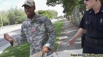 black dude in fake army uniform.