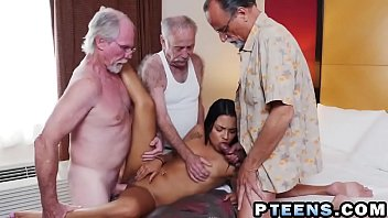 some horny old perverts pick up hot latin.