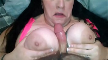 brunette bbw has her big boobs drilled - pov
