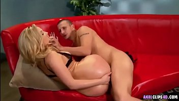 blonde anal sex on the couch.
