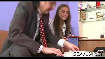 excited old teacher is pounding chick&#039_s.