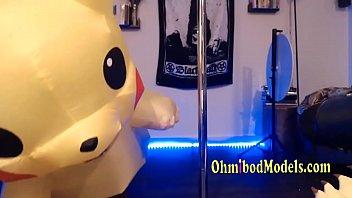 sexy pikachu pole dancing
