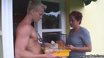 old granny riding neighbour&#039_s big cock