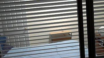 open window  nude neighbor open blinds hot day