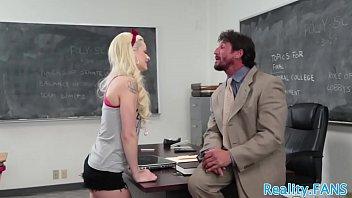 beautiful schoolgirl tastes teachers cum