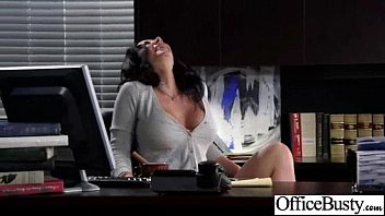 hard sex action in office with busty naughty.
