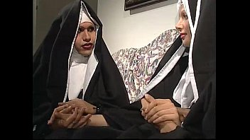 two nuns are comforting a sister, but she.