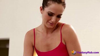 naughty masseuse seduces a hot lesbian