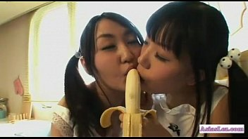 2 asian girls with small tits kissing sucking.