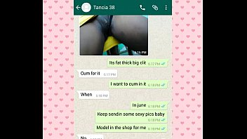 tancia texting her bf on whats app and.