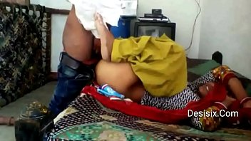 desi young village lover in bedroom.