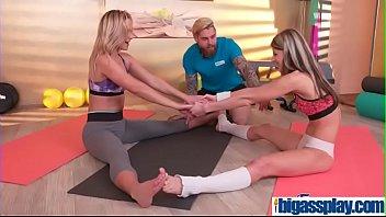 girly buddies seduce gym instructor(cristal caitlin &amp_ gina.