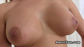 busty amateur babe likes agents dick.
