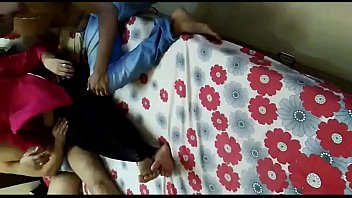 manisha aunty&#039_s threesome by young guys and her.