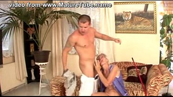 granny cleaner fucked by  young.