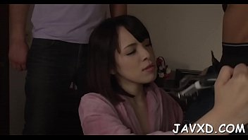 girl massaged &_ group-fucked