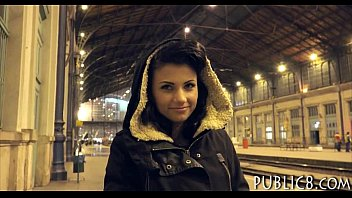 czech girl picked up on train station and.