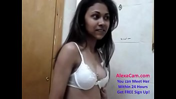 horny indian desi cute teen gets ready for.