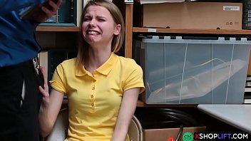 russian slender shoplifting teen got punish.