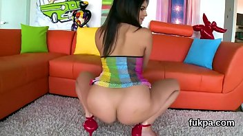 luscious doll shows off big butt and gets.