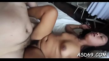 asian girl with a tiny body likes all.